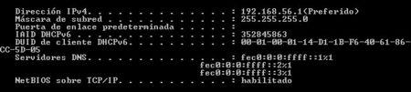 Configuración local de la red