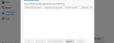 Cómo importar y exportar un certificado digital en Firefox