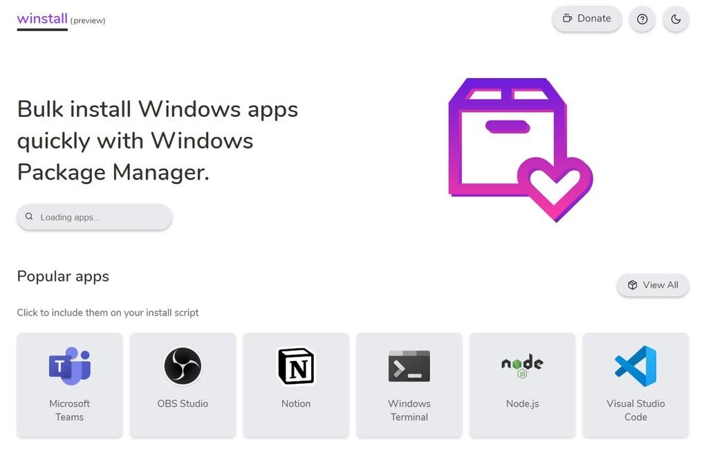 Winstall te permite instalar aplicaciones de Windows 10 rápida y masivamente gracias al nuevo gestor de paquetes