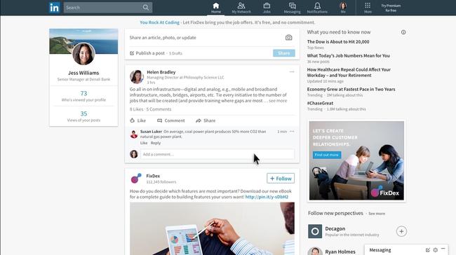 Linkedin Desktop Redesign