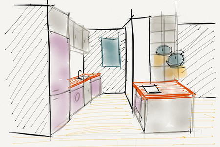 Proyecto minue: cocina - boceto
