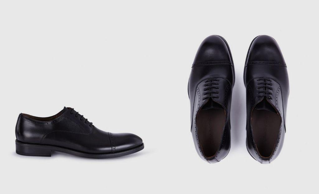 Zapatos de cordones de hombre Emidio Tucci de piel en color negro