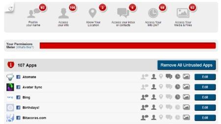 Mypermissions, gestiona los permisos de aplicaciones de Facebook