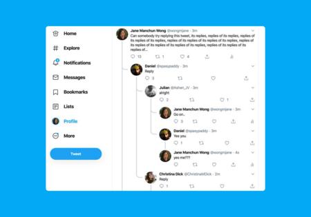 Twitter dice adiós a las conversaciones anidadas en hilos que estaban probando