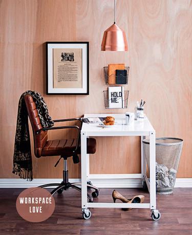Un bonito e inspirador espacio de trabajo