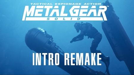 La perfección existe, es la escena de apertura de Metal Gear Solid recreada en 4K con Unreal Engine y la voz de Alfonso Vallés