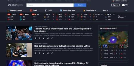 Yahoo Esports Webpage