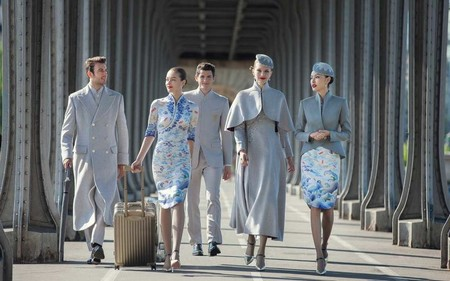 Hainan Airlines Uniformes alta costura china