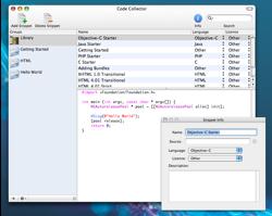 Code Collector: Biblioteca de fragmentos de código, para programadores