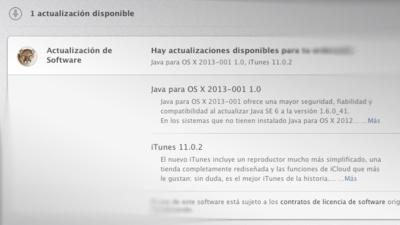 Actualizaciones de software: iTunes gana una pequeña novedad y Java tapa el agujero de seguridad del día