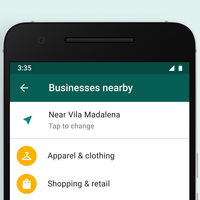 WhatsApp como páginas amarillas: la app prueba un listado de negocios cercanos con los que chatear