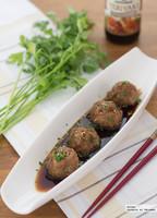 Receta de albóndigas con salsa Teriyaki