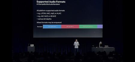Formatos de audio soportados por AirPlay 2