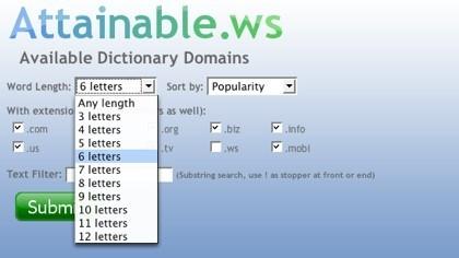 Attainable.ws, buscando dominios posibles