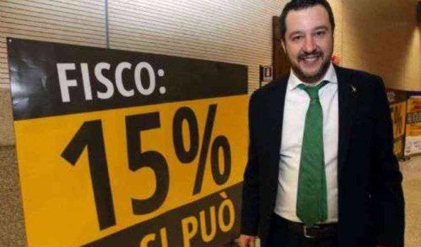 Salvini Flat Tax Italia 600x353
