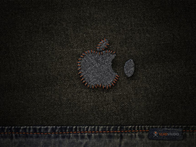 Fondo de Escritorio: Apple Stitched