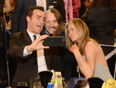 Justin Theroux, Will Forte y Jennifer Aniston