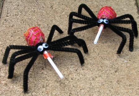 Arañas con caramelo