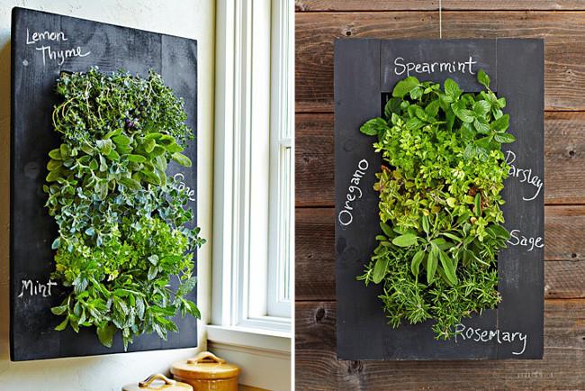 Un macetero vertical para lucir tus hierbas arom ticas for Biombos para jardin