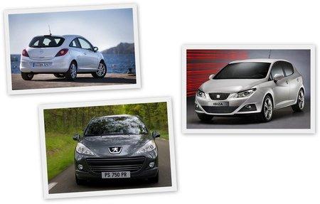 Opel Corsa, SEAT Ibiza y Peugeot 207