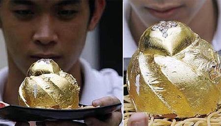 Tarta de oro y diamantes