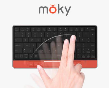 Moky coloca un touchpad invisible encima del teclado
