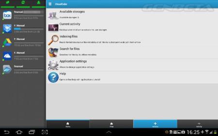CloudCube, controla varios servicios de almacenamiento en la nube desde Android