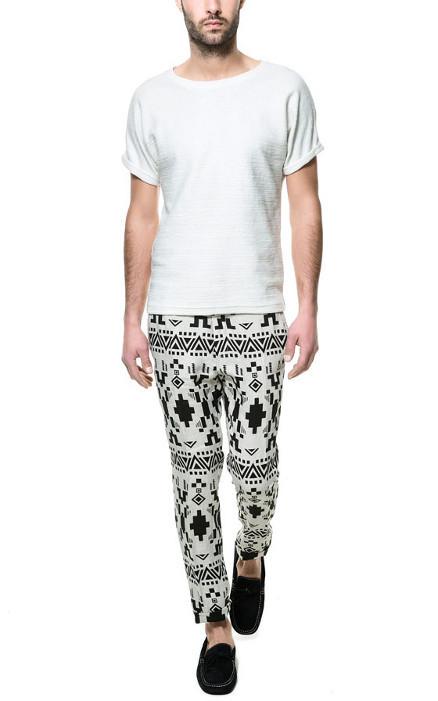 Pantalon etnico en lino
