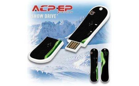 Memoria USB con forma de tabla de snowboard