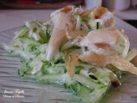 Receta de ensalada de calabacín y pollo