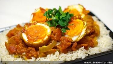 Receta de huevos al curry