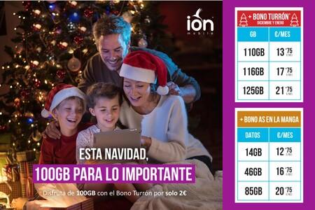 100 GB por 2 euros extra, la promoción navideña de ION mobile