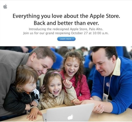 Apple abrirá una nueva tienda en Palo Alto, California, a la que denominan como prototipo