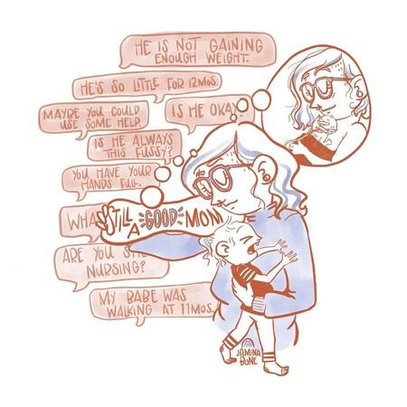 ilustraciones depresión postparto