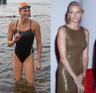 Charlene Wittstock de nadadora de élite a Alteza Serenesíma, o lo que es lo mismo, de ranita con Speedos a cisne con Valentinos