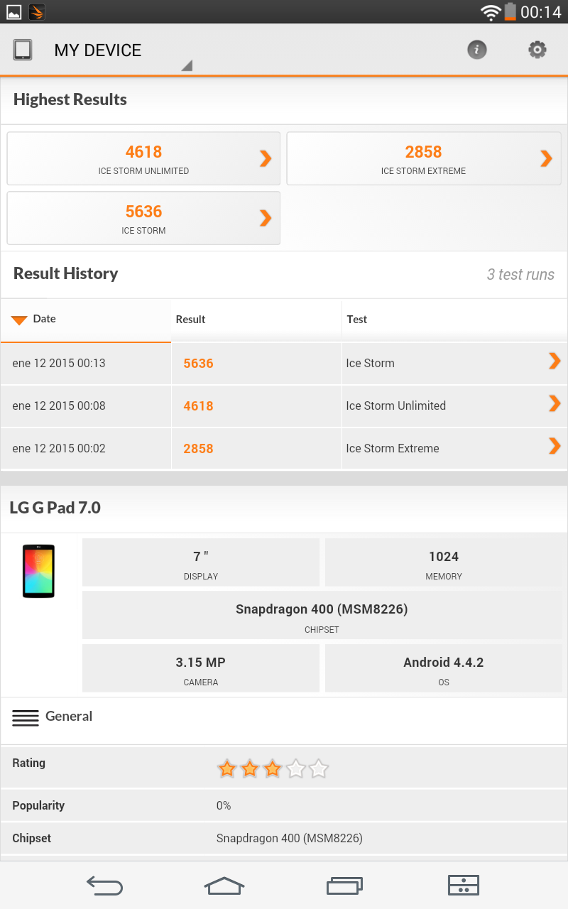 Foto de LG G Pad 7.0, benchmarks (17/18)