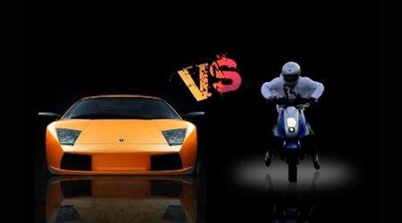 Scooter Peugeot Vs Lamborghini Gallardo, ni Vespa ni Harley Davidson