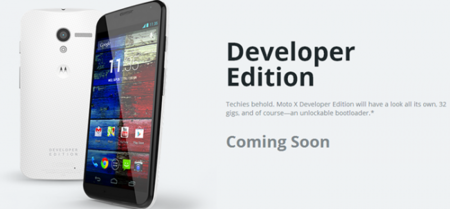 Motorola anuncia que el Moto X Developer Edition llegará pronto