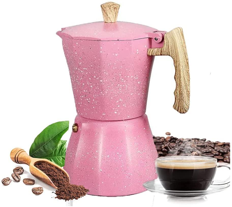 Kamenda Stovetop Espresso Maker - Cafetera Moka Pot para Estufa de Gas o EléCtrica - 3 Tazas Espresso Shot Maker para Italiano