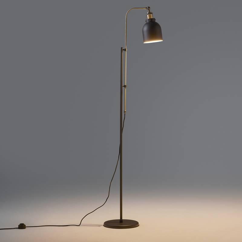 Lámpara de pie de metal y latón, Zantar
