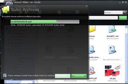 Subir archivos en iCloud