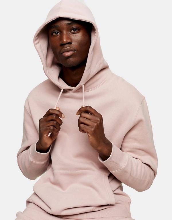 Sudadera rosa con capucha de Topman