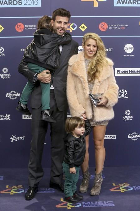 Los nenes de Shakira y Piqué se convierten en protagonistas en los  40 Principales Music Awards 2016