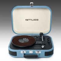Muse MT-201: este tocadiscos con aspecto retro, permite además realizar streaming de audio y convertir a formato MP3
