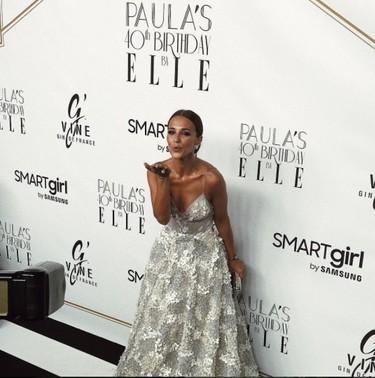 Paula Echevarría celebra su 40 cumpleaños con un fiestón y un espectacular vestido