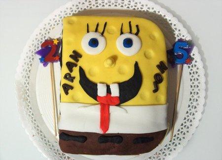 Receta de pastel de cumpleaños de Bob Esponja