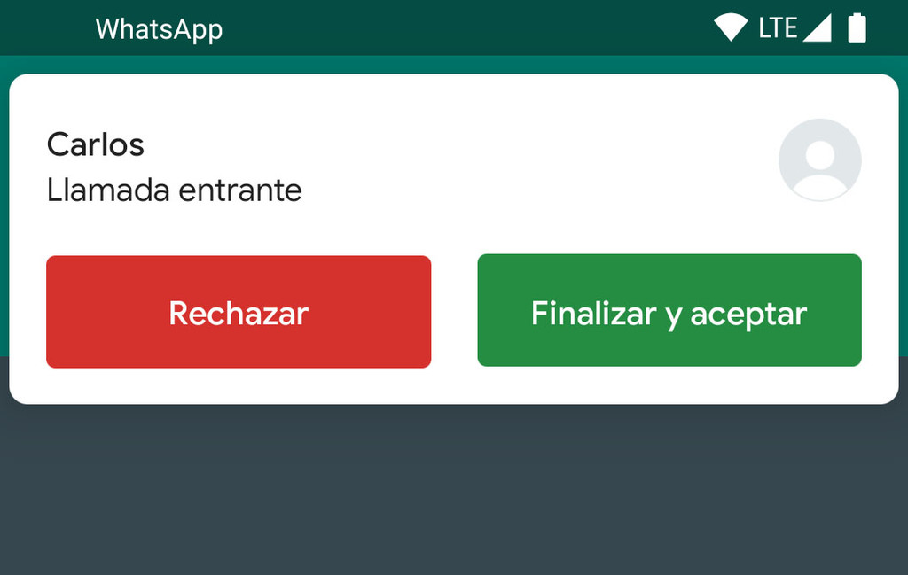 WhatsApp for Android allows you to receive a call while you