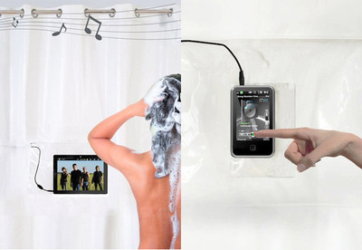 Shower Tunes, una cortina de ducha con altavoces incorporados