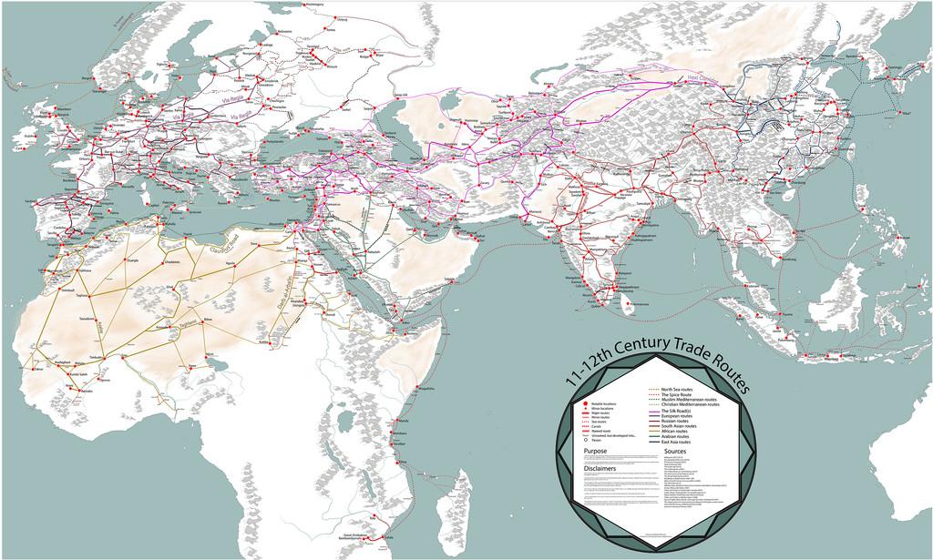 Mapa Rutas Comerciales Medievales