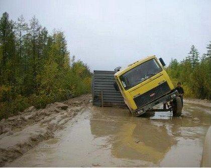 carreteras rusas en mal estado